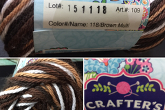 Looking For: Crafters secret cotton 118/Brown Multi