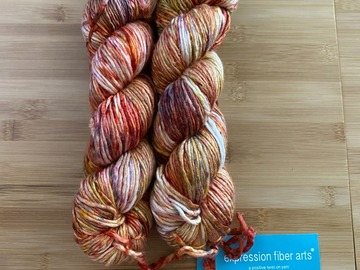 Selling: Expression Fiber Arts Worsted Yarn in August Poppy