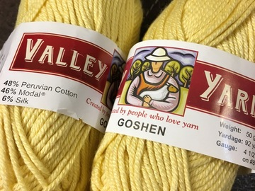Swap/Trade: Valley Yarns — Goshen
